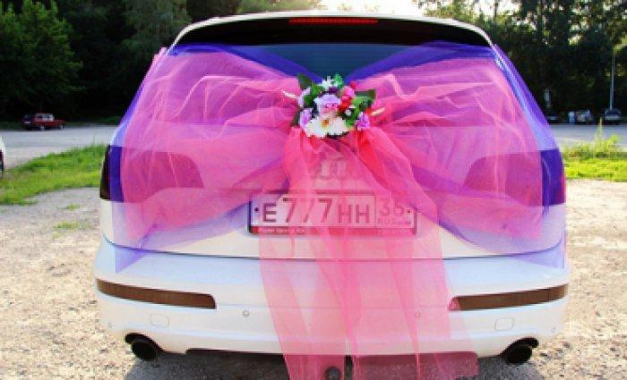 Сшить бант на свадебную машину