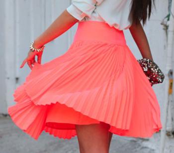 Плиссированная юбка на машинке