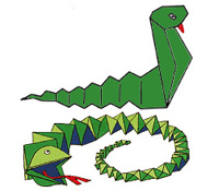 Змей из бумаги