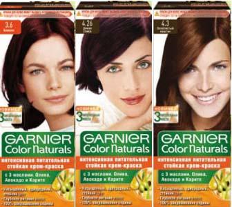 Палитра красокдля волос Garnier Color Naturals
