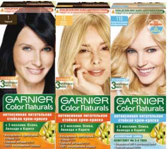 Палитра красок для волос Garnier Color Naturals