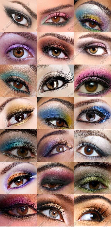 Цвет теней для карих глаз