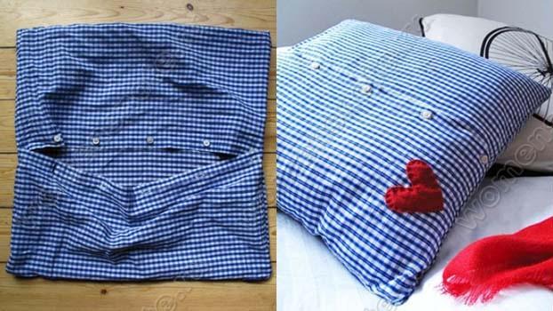 Как из мужской рубашки сделать наволочку