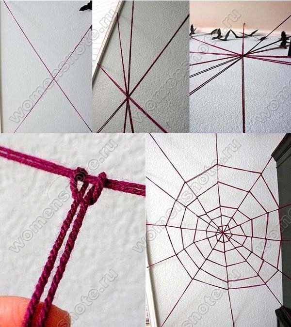 Как сделать верёвку как паутину