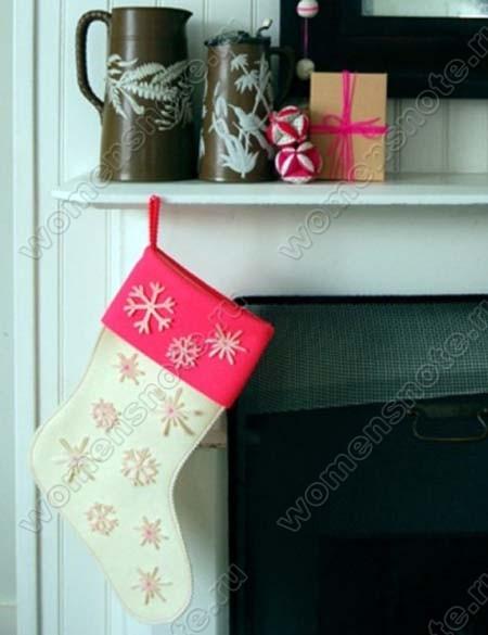 Новогодний носок из бумаги для подарков своими руками