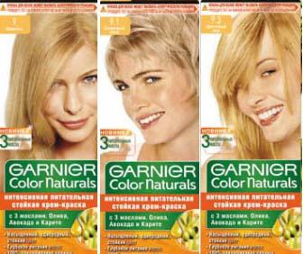 Палитра краски для волос Garnier Color Naturals