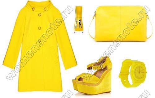 С тем что означает желтый цвет