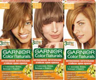 Краска для волос гарнер палитра