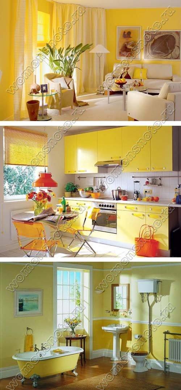Желтый цвет в интерьере квартиры