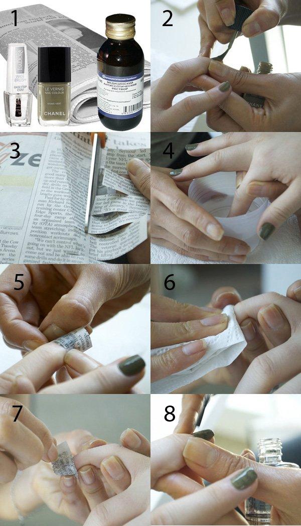 Газетный маникюр как правильно сделать