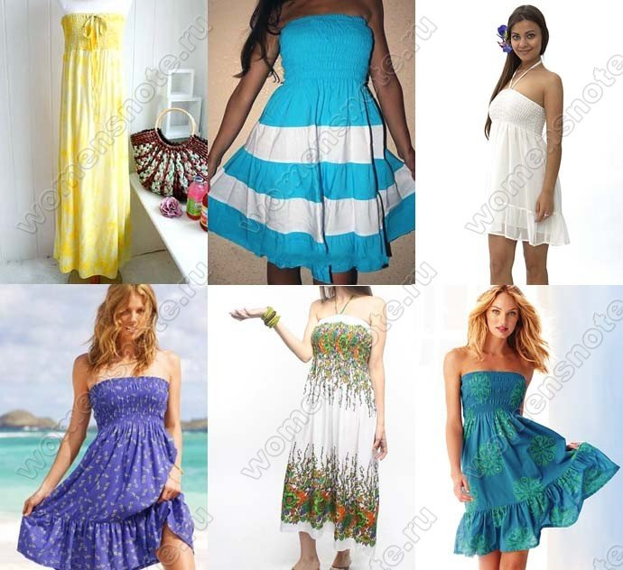 Как из юбки сделать летний сарафан