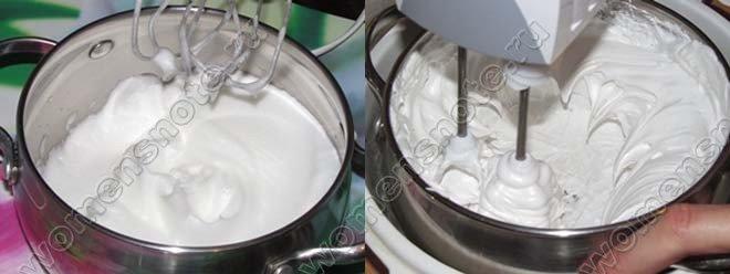 Как сделать белковый цветной крем