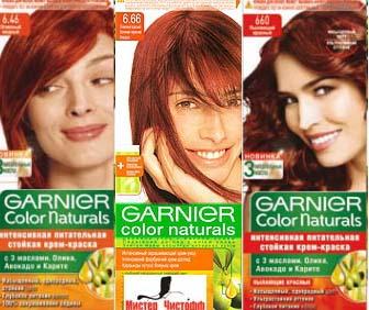 Оттенок краски для волос огненная