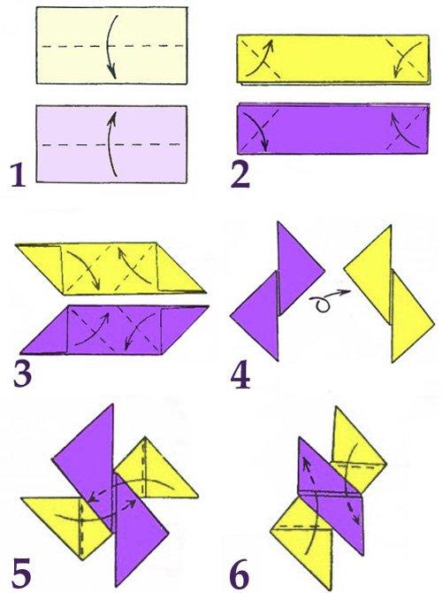 Как сделать из бумаги летающую звезду