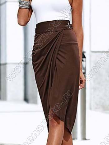 цельнокроенный пояс для юбки